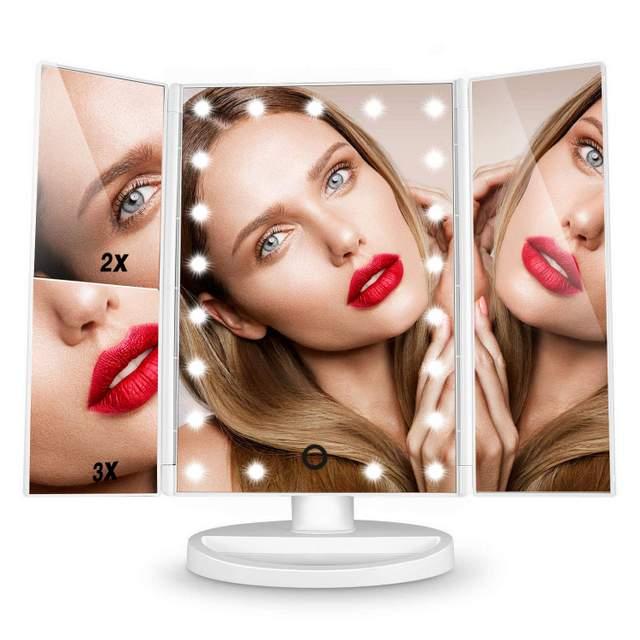 Hamswan specchio trucco specchio ingranditore da trucco con 21 leds olly secret - Specchio trucco illuminato ...