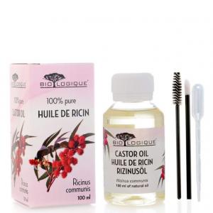 Olio di ricino stimola la crescita dei capelli, ciglia e sopracciglia